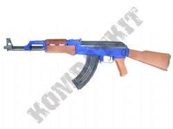 P1093 AK47 Style Airsoft BB Gun Combat Rifle Black and Blue
